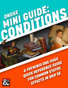 Mini Guide: Conditions (One-page reference sheet for conditions and status effects)