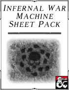 Infernal War Machine Sheet Pack