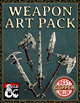 7 Stock Weapon Art Pack - Hand Drawn Style