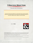 5 High Level Magic Items by Naali