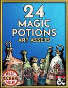 24 Stock Potion Art Pack - Hand Drawn Style
