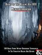 Books Of The Realms Volume VIII Menzoberranzan