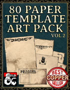80 Paper, Note, and Handout Templates Vol. 2 - Hand Drawn Style