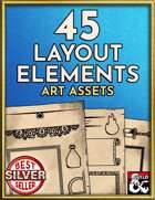 45 Page Layout Elements and Graphics Art Pack - Hand Drawn Style