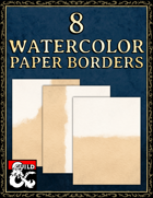 8 Watercolor Paper Borders