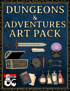 Stock Art Asset Pack - Chest, bomb, potions, and keys! - Hand Drawn Style