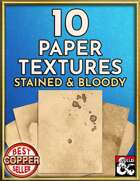 10 Paper Textures - Stained and Bloody