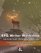 RPG Writer Workshop Fall 2020 Vol. III [BUNDLE]