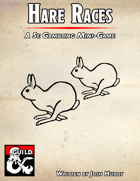 Hare Races - A 5e Gambling MiniGame