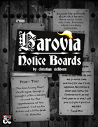 Barovia Notice Boards | A Curse of Strahd Supplement