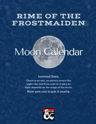 Moon Calendar - Rime of the Frostmaiden