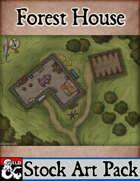 Elven Tower - Forest House   26x18 Stock Battlemap