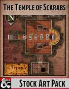 Elven Tower - Temple of Scarabs | 22x28 Stock Battlemap