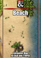 Beach Battlemap w/Fantasy Grounds support - TTRPG Map