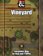 Vineyard Battlemap w/Fantasy Grounds support - TTRPG Map