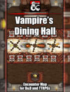 Vampire's Dining Hall Battlemap w/Fantasy Grounds support - TTRPG Map
