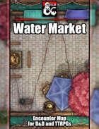 Water Market Battlemap w/Fantasy Grounds support - TTRPG Map