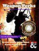 Weapon Perks (Fantasy Grounds)
