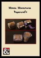 Mimic Miniatures- chests and barrels