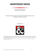 Race Options - Warforged Mods (5E)