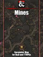 Mines Battlemap w/Fantasy Grounds support - TTRPG Map