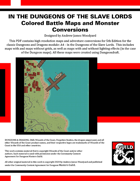 A4: In the Dungeons of the Slave Lords - Colored Battle Maps and 5E Conversion