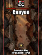 Canyon Battlemap w/Fantasy Grounds support - TTRPG Map