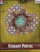 Elven Tower - Verdant Portal   22x22 Stock Battlemap