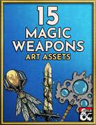 15 Magic Weapon — Stock Art — Hand Drawn Style