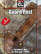 Guard Post Battlemap w/Fantasy Grounds support - TTRPG Map