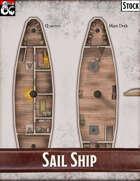 Elven Tower - Sail Ship | 33x23 Stock Battlemap