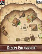 Elven Tower - Desert Encampment   28x28 Stock Battlemap