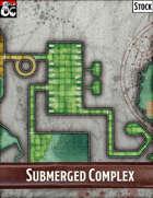Elven Tower - Submerged Complex | 50x33 Stock Battlemap