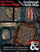 Out of the Abyss Map Pack: Gracklstugh, The City of Blades Battle Maps (including Darklake Docks, Shattered Spire, Gholbrorn's Lair Inn & Tavern, and Blade Bazaar)