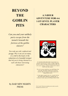 BEYOND THE GOBLIN PITS, a 1-st level adventure