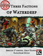 Three Factions of Waterdeep: Bregan D'aerthe, Gray Hands, and Xanathar Guild