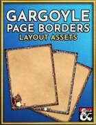 Gargoyle Paper Borders - Gothic Horror Layout Assets