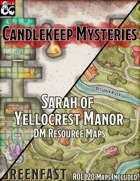 Candlekeep Mysteries Maps - Sarah of Yellowcrest Manor