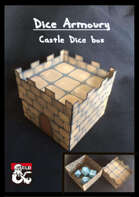 'Dice Armoury' Castle dice box