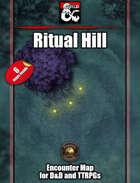Ritual Hill Battlemap w/Fantasy Grounds support - TTRPG Map