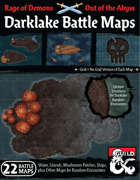 Out of the Abyss Map Pack: Darklake Battle Maps (Underdark Bodies of Water and Islands)