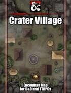 Crater Village Battlemap w/Fantasy Grounds support - TTRPG Map
