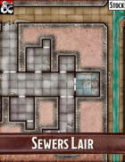 Elven Tower - Sewers Lair | 25x20 Stock Battlemap