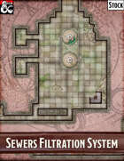 Elven Tower - Sewers Filtration System | 60x28 Stock Battlemap
