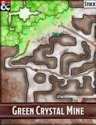 Elven Tower - Green Crystal Mine| 53x33 Stock Battlemap