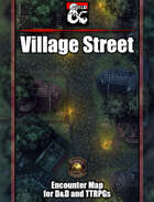 Village Street Battlemap w/Fantasy Grounds support - TTRPG Map