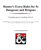 Hunter's Extra Rules for 5e Dungeons and Dragons