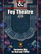 Fey Theatre Battlemap w/Fantasy Grounds support - TTRPG Map