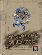 Gritt's Dirt-Cheap Sullied Goods