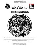 DC-PoA-TDG01-01 Wayward Beginnings